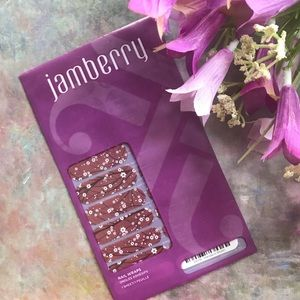 NEW Jamberry Nail Wraps Marsala in Bloom